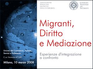 Locandina - Migranti, diritto e mediazione