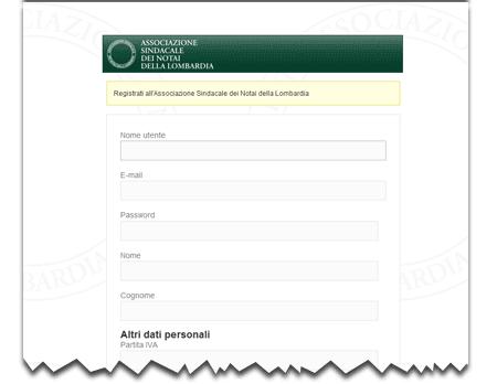 Iscrizione all'Associazione Sindacale dei Notai della Lombardia